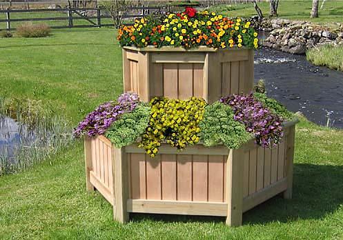 Bygga stora planteringslådor